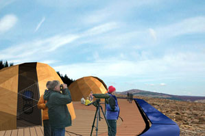"Our proposal titled ""Starry Messenger"" has been shortlisted in the RIBA organized international architectural competition for a energy-efficient  and publicly accessible observatory in Kielder, Northumberland, UK. The design uses the material, topographic and visual qualities of the site to heighten its scenographic potentials."