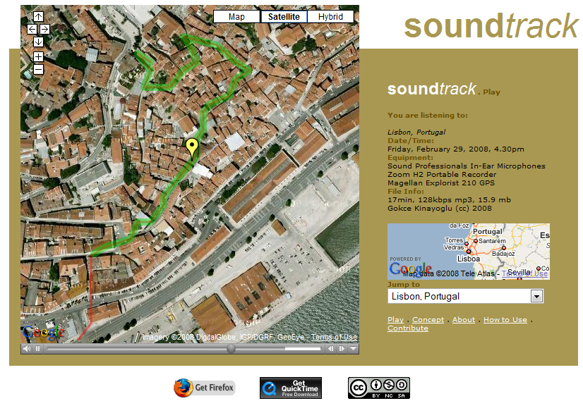 Design Media Research Lab Interactive Sound Maps - Portugal map interactive